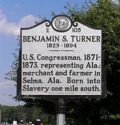 Benjamin S. Turner Marker image. Click for full size.