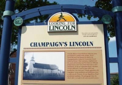 Top Section - - Champaign's Lincoln Marker image. Click for full size.