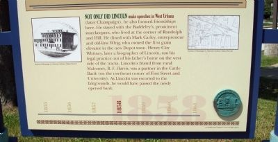 Lower Section - - Champaign's Lincoln Marker image. Click for full size.