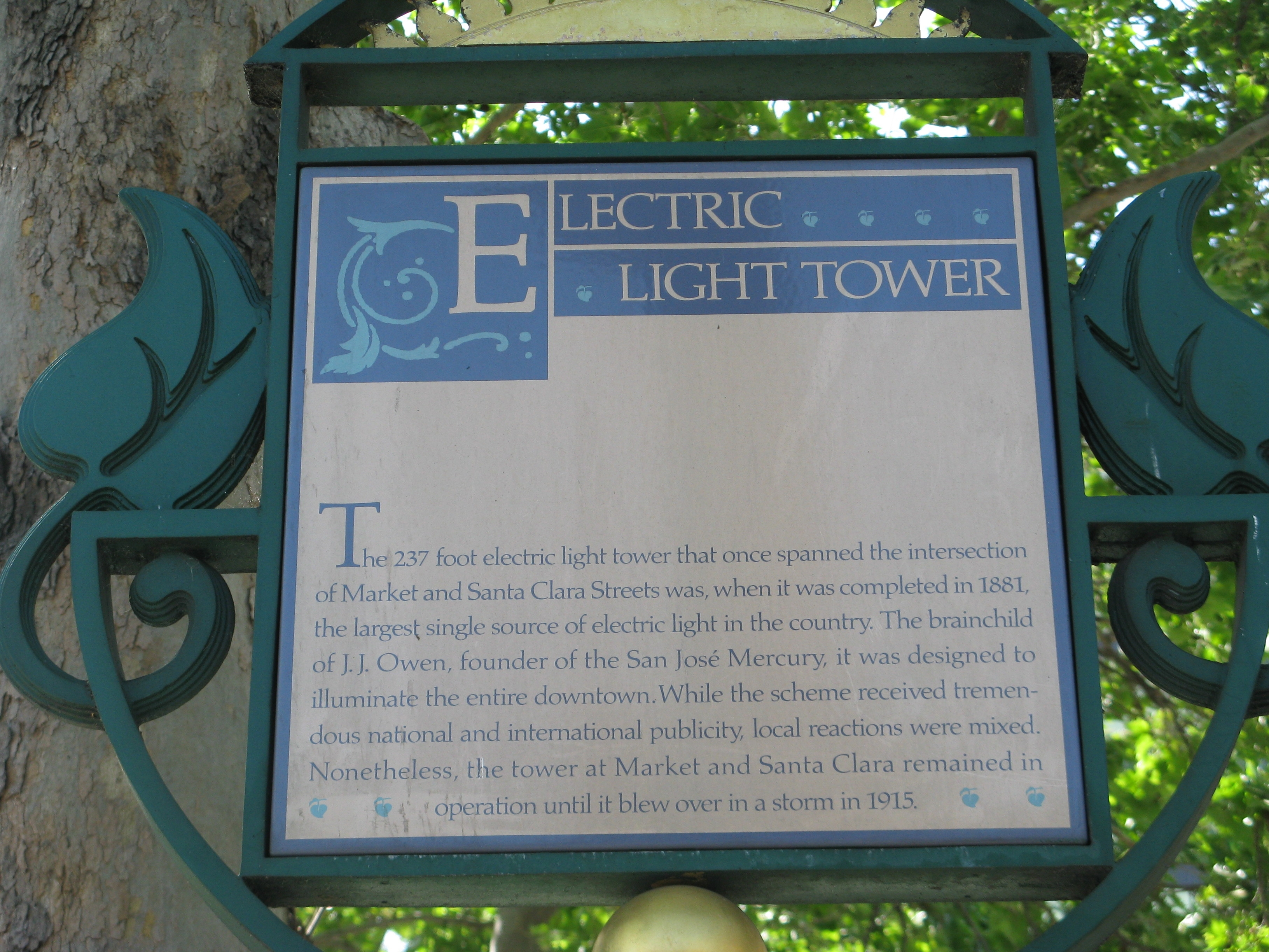 Electric Light Tower Marker