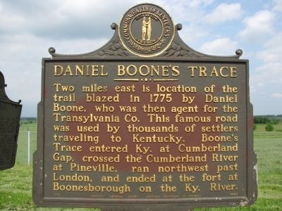 Daniel Boone's Trace Marker image. Click for full size.
