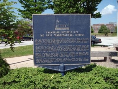 Champaign Historic Site Marker image. Click for full size.