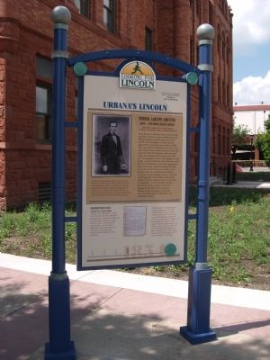 Full View - - Urbana's Lincoln Marker image. Click for full size.