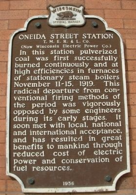 Oneida Street Station Marker image. Click for full size.