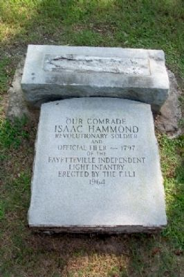 Isaac Hammond Grave Marker image. Click for full size.