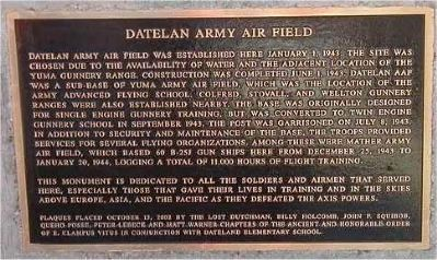 Datelan Army Air Field Marker image. Click for full size.