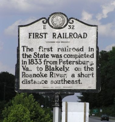 First Railroad Marker image. Click for full size.