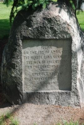 "Chelmsford's ""Minuteman Boulder"" Marker image. Click for full size."