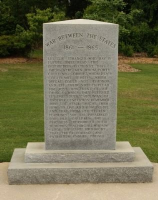 War Between The States Tribute Marker image. Click for full size.