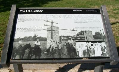 The LBJ Legacy Marker image. Click for full size.