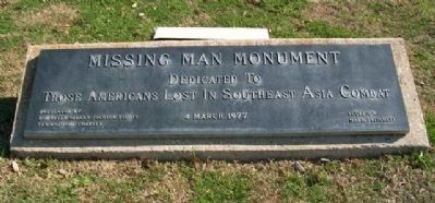 Missing Man Monument Marker image. Click for full size.