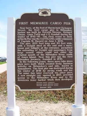 First Milwaukee Cargo Pier Marker image. Click for full size.