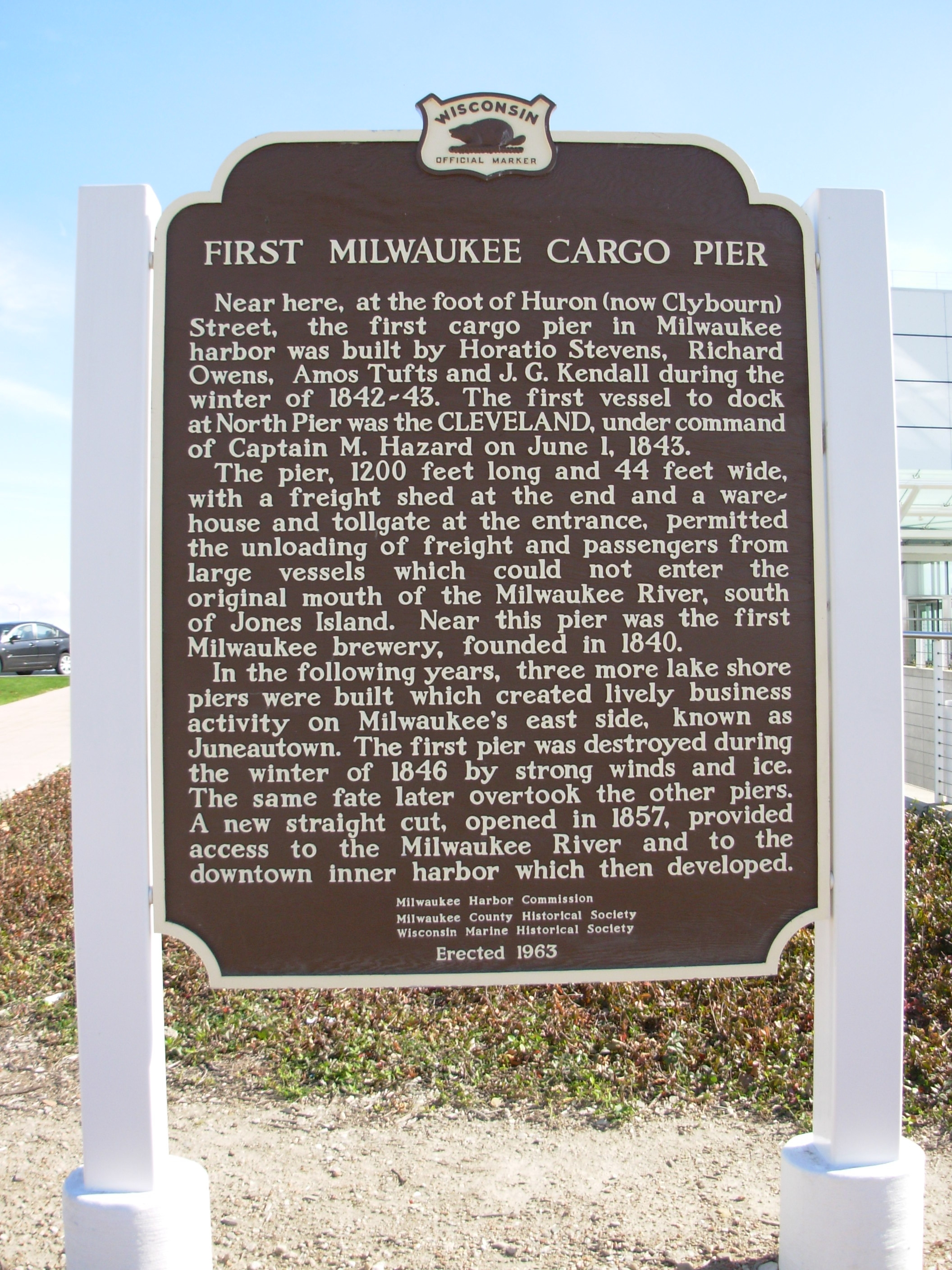 First Milwaukee Cargo Pier Marker
