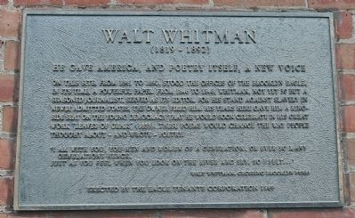 Walt Whitman Marker image. Click for full size.