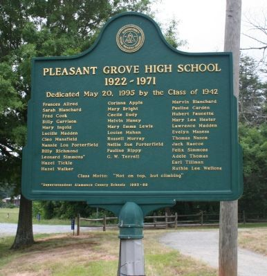 Pleasant Grove High School Marker image. Click for full size.