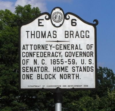 Thomas Bragg Marker image. Click for full size.