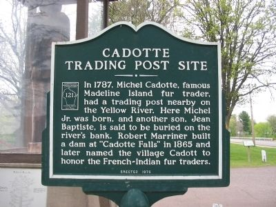Cadotte Trading Post Site Marker image. Click for full size.