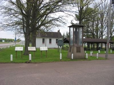Cadotte Trading Post Site and Marker image. Click for full size.