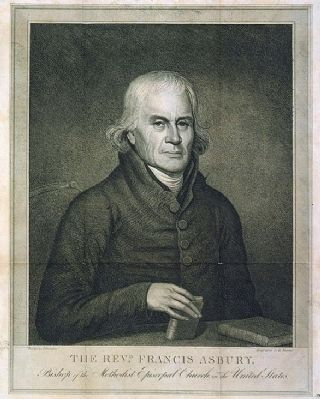 The Revd. Francis Asbury, Bishop of the Methodist Episcopal Church in the United States image. Click for full size.