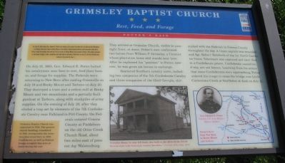 Grimsley Baptist Church Marker image. Click for full size.