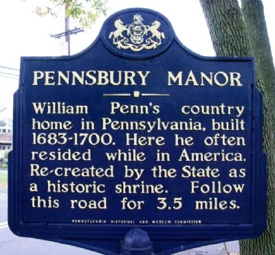 Pennsbury Manor Marker image. Click for full size.