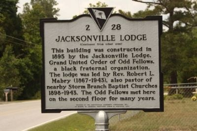 Jacksonville Lodge Marker image. Click for full size.
