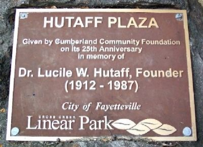 Hutaff Plaza Marker image. Click for full size.