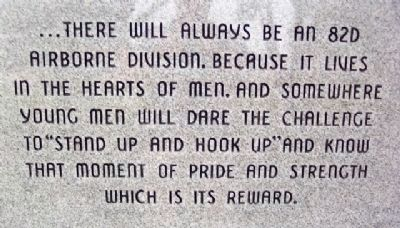 82d Airborne Division Quote image. Click for full size.