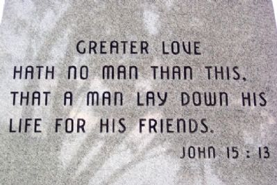 Bible Verse on Monument image. Click for full size.