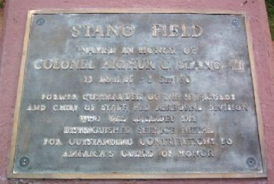 Stang Field Marker image. Click for full size.
