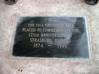 The 1914 Firehouse Bell Marker image. Click for full size.