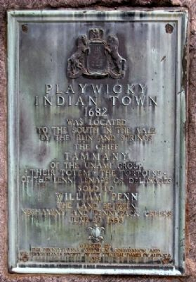 Playwicky Indian Town Marker image. Click for full size.