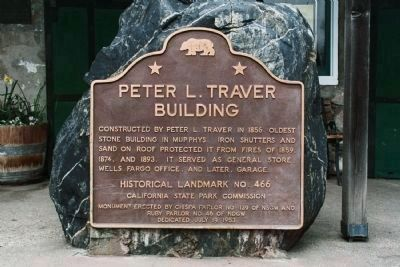 Peter L. Traver Building Marker image. Click for full size.