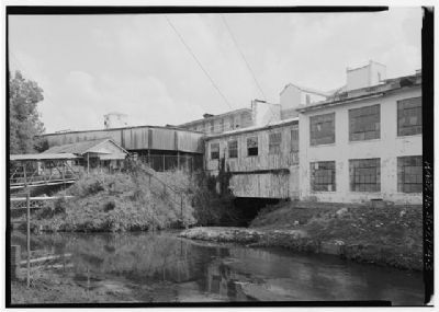 Graniteville Mill South wheel pit tailrace and west elevation of mill complex image. Click for full size.