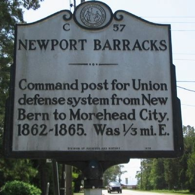 Newport Barracks Marker image. Click for full size.
