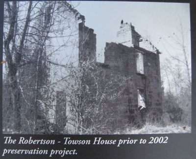 The Robertson-Towson House Marker image. Click for full size.