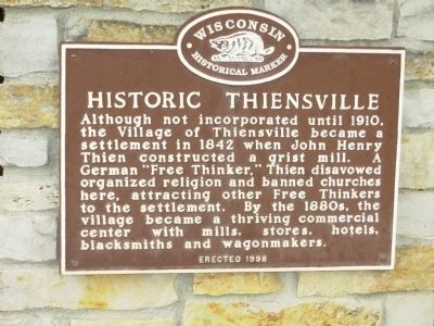 Historic Thiensville Marker image. Click for full size.