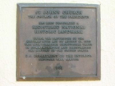 St. John's Church Registered National Historic Landmark Marker image. Click for full size.