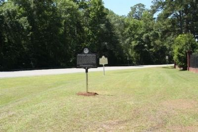 March to the Sea: Ebenezer Creek Marker, seen along Ebenezer Road image. Click for full size.