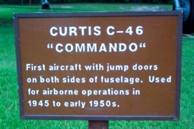 "Curtiss C-46 ""Commando"" Marker image. Click for full size."