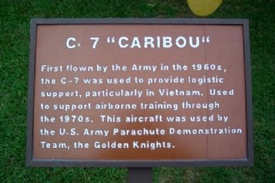 "C-7 ""Caribou"" Marker image. Click for full size."