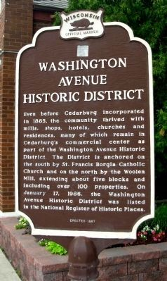 Washington Avenue Historic District Marker image. Click for full size.