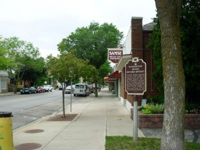 Washington Avenue Historic District / Historic District Architecture Marker image. Click for full size.
