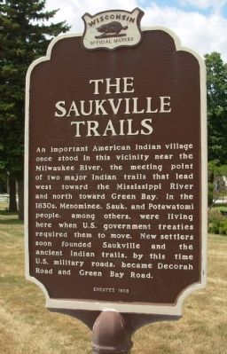 The Saukville Trails Marker image. Click for full size.