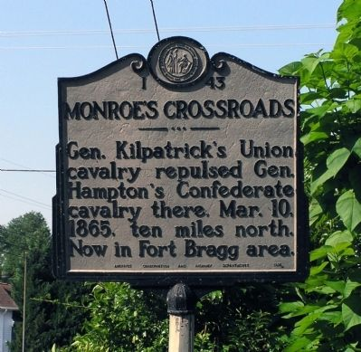 Monroe's Crossroads Marker image. Click for full size.