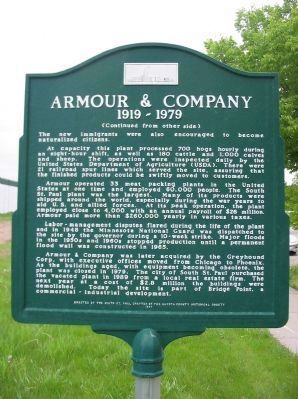 Armour & Company Marker image. Click for full size.