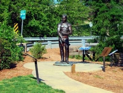 Historic Garden Markers -<br><i>Cherokee Indian</i><br>Donated by Phil and Sharon Carlton image. Click for full size.