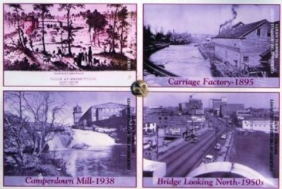 History of the Reedy River Marker -<br>Views of the Reedy Through Time image. Click for full size.