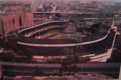 Post Card Showing the Polo Grounds from Coogan's Bluff image. Click for full size.