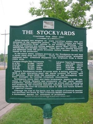 The Stockyards Marker image. Click for full size.